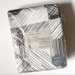 West Elm Different Stripe Curtains 2 Set 108""